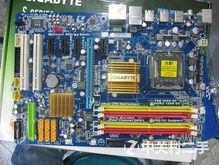 技嘉p43主板 120元(可上775针全系列cpu)