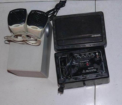 漫步者低音炮,8成新,卖50元,迪波有源音箱.8成新.