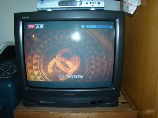 东芝21寸彩色电视机300元转-crt普通电视-二手库